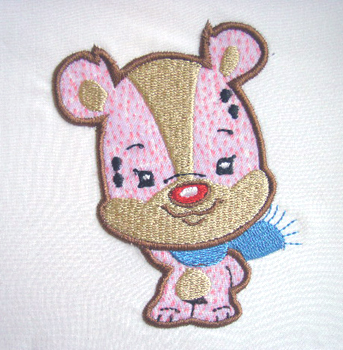 Applique Balloon Head Bear