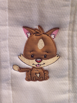 Applique Balloon Head Cat