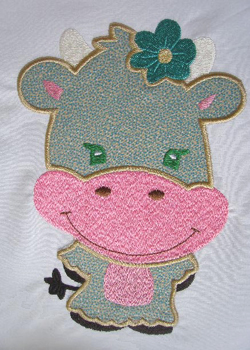 Applique Balloon Head Cow