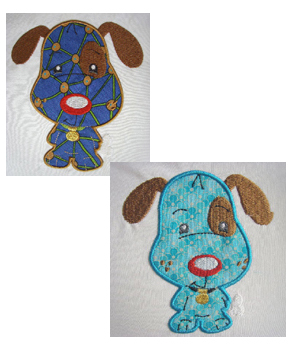 Applique Balloon Head Dog