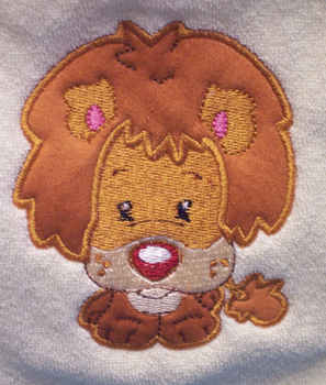 Applique Balloon Head Lion