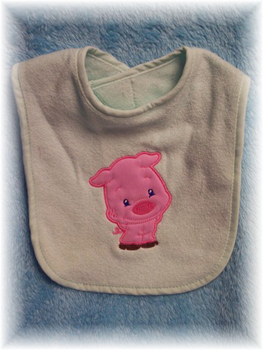 Applique Balloon Head Pig