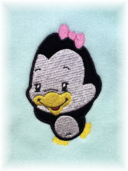 Applique Balloon Head Penguin
