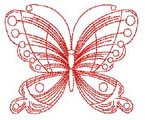 Butterfly Redwork
